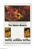 "Movie Posters:War, Green Berets, The (Warner Brothers, 1968). One Sheet (27"" X 41"").Offered here is a vintage, theater-used poster for this ar..."
