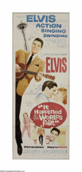 """Movie Posters:Elvis Presley, It Happened at the World's Fair (MGM, 1963). Insert (14"""" X 36"""").Offered here is a vintage, theater-used poster for this mus..."""