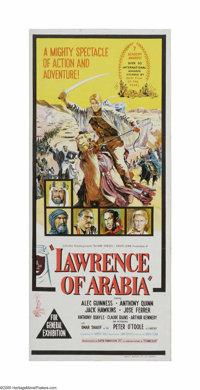 """Lawrence of Arabia (Columbia, 1962). Australian Daybill (13"""" X 30""""). Offered here is a vintage, theater-used p..."""