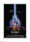 """Movie Posters:Science Fiction, Tron (Buena Vista, 1982). One Sheet (27"""" X 41""""). Offered here is avintage, theater-used poster for this sci-fi adventure di..."""