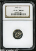 Proof Roosevelt Dimes: , 1954 10C PR 68 Cameo NGC. ...