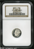 Proof Roosevelt Dimes: , 1957 10C PR 69 S Cameo NGC....