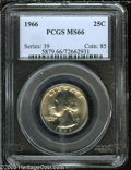 Washington Quarters: , 1966 25C MS66 PCGS. ...