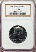 1964 50C Accented Hair PR69 NGC. NGC Census: (276/0). PCGS Population: (52/0). ...(PCGS# 6801)