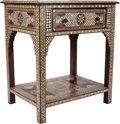 Furniture : Continental, A Moorish Inlaid Console Table. 29 h x 22 w x 32 d inches (73.7 x 55.9 x 81.3 cm). ...