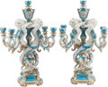 Ceramics & Porcelain, A Pair of Sevres-Style Porcelain Five-Light Candelabra. 24-1/2 h x 9 w x 14 d inches (62.2 x 22.9 x 35.6 cm). ... (Total: 2 Items)