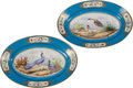 Ceramics & Porcelain, A Pair of Sevres-Style Porcelain Oval Platters. 13-1/2 h x 19-1/2 w x 2 d inches (34.3 x 49.5 x 5.1 cm). ... (Total: 2 Items)