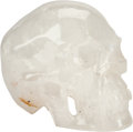 Decorative Arts, Continental, A Large Carved Rock Crystal Skull. 10 h x 7 w x 8 d inches (25.4 x17.8 x 20.3 cm). ...