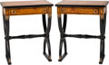 Furniture , A Pair of Charles X-Style Partial Ebonized Tables. 28-1/2 h x 24 w x 16 d inches (72.4 x 61.0 x 40.6 cm). ... (Total: 2 Items)