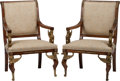 Furniture , A Pair of Empire-Style Fauteuils. 40 h x 27 w x 21 d inches (101.6 x 68.6 x 53.3 cm). ... (Total: 2 Items)