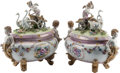 Ceramics & Porcelain, Continental, A Pair of Dresden-Style Porcelain Figural Tureens. 20 h x 18 w x 10 d inches (50.8 x 45.7 x 25.4 cm). ... (Total: 2 Items)