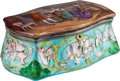 Decorative Arts, Continental, A Beaux Arts-Style Enameled Box. 3-1/2 h x 8 w x 5-1/2 d inches(8.9 x 20.3 x 14.0 cm). ...