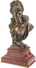 Decorative Arts, Continental, A French Patinated Bronze Bust after Paul Duboy: Beatrix.Marks: P. Duboy. 24 h ...