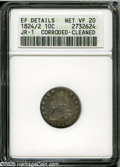 Bust Dimes: , 1824/2 10C--Corroded, Cleaned--ANACS. XF Details, Net VF20. JR-1,R.3. The curves of the 2 below the 4 in the date are unm...