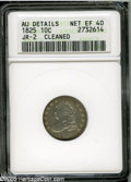 Bust Dimes: , 1825 10C--Cleaned--ANACS. AU Details, Net XF40. JR-2, R.2. Gray-tansurfaces reveal fine hairlines that are somewhat more p...