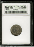 Bust Dimes: , 1830 10C Small 10C--Cleaned--ANACS. AU Details, Net XF45. JR-2,R-1. The sole Small 10C die marriage of the date. Mint-gree...