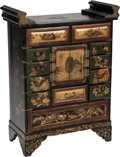 Furniture, A Japanese Partial Gilt Lacquered Cabinet. 31-1/2 h x 11 w x 23 d inches (80.0 x 27.9 x 58.4 cm). ...