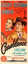 "Movie Posters:Academy Award Winners, Casablanca (Warner Brothers, R-1940s). Australian Daybill (13.25"" X30"").. ..."