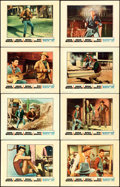 "Movie Posters:Western, Rio Bravo (Warner Brothers, 1959). Lobby Card Set of 8 (11"" X 14"").. ... (Total: 8 Items)"