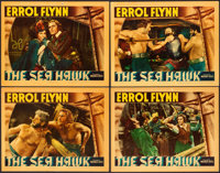 "The Sea Hawk (Warner Brothers, 1940). Linen Finish Lobby Cards (4) (11"" X 14""). ... (Total: 4 Items)"