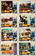 "Movie Posters:Western, She Wore a Yellow Ribbon (RKO, 1949). Lobby Card Set of 8 (11"" X 14"").. ... (Total: 8 Items)"