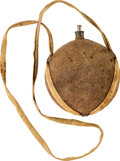 Military & Patriotic:Civil War, Civil War Canteen With Brown Jean Cloth Cover and Case's Patent Filtering Cork....