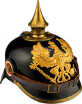 Militaria:Helmets, Beautiful Prussian Model 1895 Enlisted Spiked Helmet Identified to Infantry Regiment 149....