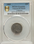 Early Dimes, 1805 10C 4 Berries, JR-2, R.2 -- Cleaned -- PCGS Genuine. XFDetails....