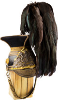 Militaria:Helmets, Beautiful British 16th The Queen's Lancers Officers' Cap CompleteWith Black Feather Plume....