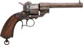 Handguns:Single Action Revolver, Le Faucheux Single Action Pinfire Revolver....