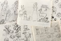 animation art:Model Sheet, Bambi/Snow White and the Seven Dwarfs Studio Model SheetGroup of 15 (Walt Disney, 1942/37).... (Total: 15 Items)