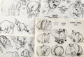 animation art:Model Sheet, Dumbo,The Brave Engineer and Pluto at the Zoo Studio Model Sheet Group of 18 (Walt Disney, 1941-50).... (Total: 17 Items)