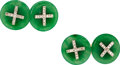 Estate Jewelry:Cufflinks, Art Deco Jadeite Jade, Diamond, Platinum, Gold Cuff Links . ...