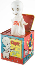 Memorabilia:Comic-Related, Casper the Friendly Ghost Music Box (Jack-in-the-Box) (Mattel, 1961)....