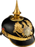 Militaria:Helmets, Saxe-Weimar and Eisenach Grand Duke of Saxony 5th Thuringian, Infantry Regiment No. 94 Officers' Spiked Helmet....