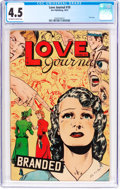 Golden Age (1938-1955):Romance, Love Journal #10 (Our Publishing Co., 1951) CGC VG+ 4.5 Off-whiteto white pages....