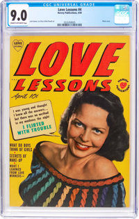 Love Lessons #4 (Harvey, 1950) CGC VF/NM 9.0 Cream to off-white pages