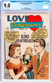 Love Confessions #41 (Quality, 1955) CGC VF/NM 9.0 Off-white to white pages