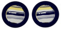 Fine Art - Sculpture, American:Contemporary (1950 to present), Roy Lichtenstein (1923-1997). Untitled, set of two plates,c. 1990. Ceramics in colors with glazing . 12-1/4 inch diamet...(Total: 2 Items)