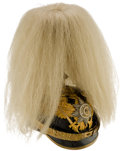 Militaria:Helmets, Beautiful Prussian Guard Officer Helmet with Horse Hair Parade Plume....