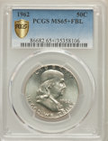 Franklin Half Dollars, 1962 50C MS65+ Full Bell Lines PCGS. PCGS Population: (267/19 and 15/0+). NGC Census: (27/3 and 0/0+). CDN: $800 Whsle. Bid...