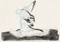 Animation Art:Production Drawing, Fantasia Mickey Mouse as the Sorcerer's Apprentice Special Effects Animation Drawing (Walt Disney, 1940). ...