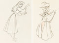 Animation Art:Production Drawing, Sleeping Beauty Briar Rose and Forest Animals AnimationDrawings Group of 2 (Walt Disney, 1959).... (Total: 2 Original Art)