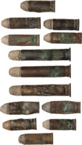 Military & Patriotic:Indian Wars, John Sivertsen: Thirteen Unfired Rounds Found Near His Effects.... (Total: 13 Items)