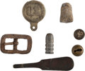 Military & Patriotic:Indian Wars, Various Objects Found on the Little Bighorn Battlefield. ...