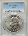 Eisenhower Dollars, 1972 $1 Type Two, FS-901, MS65 PCGS. PCGS Population: (1/0). ...