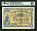 World Currency, Australia Commonwealth of Australia £1 ND (1914-1915) Pick 1B R19F. Overprint on Australia A111a.. ...