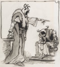 Animation Art:Concept Art, Mike Ploog The Black Cauldron The Horned King CharacterDesign Concept Art (Walt Disney, 1985). ...