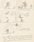 Animation Art:Concept Art, Fishin' Around Mickey Mouse Gag Concept Art (Walt Disney,1931)....