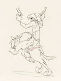 Animation Art:Production Drawing, Melody Time Pecos Bill Animation Drawing (Walt Disney,1948)....